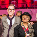 Group image featuring NYFA's Executive Director Michael L. Royce and Past Immediate Board Chair Judith K. Brodsky with NYFA-affiliated artists who were honored at NYFA's 2016 Hall of Fame Benefit.