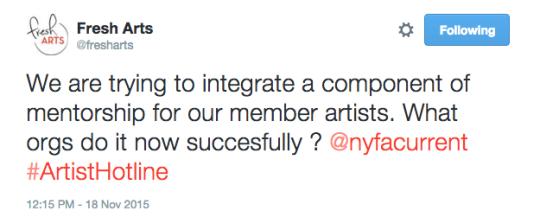 #ArtistHotline November 18th Storify Recap
