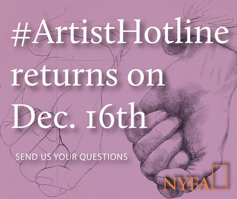 Save the Date: Our Next #ArtistHotline is December 16