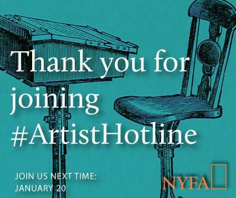 Thank you for joining #ArtistHotline