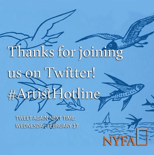 Thank You for Joining #ArtistHotline!
