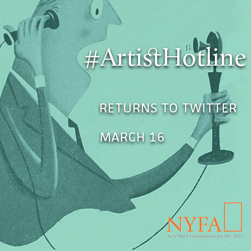 Save the Date: #ArtistHotline March 16