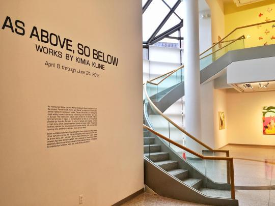 Basil Alkazzi Artist in Residence, Kimia Ferdowsi Kline, Solo Show: As Above, So Below