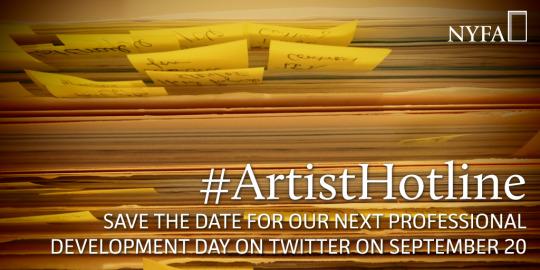 Save the Date   #ArtistHotline Returns to Twitter on September 20