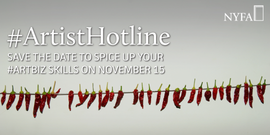 Save the Date | #ArtistHotline Returns to Twitter on November 15