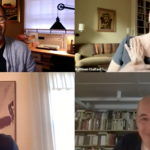 Image: Screenshot from a recent Zoom talk; image is separated by four, each quadrant showing one of the participants.
